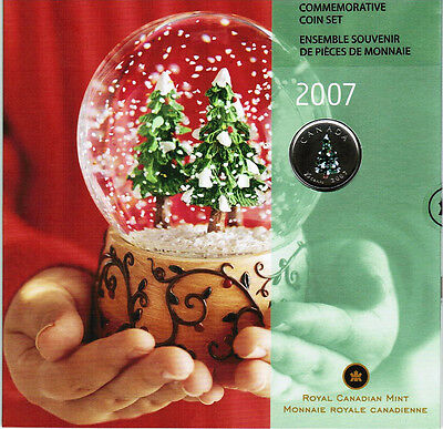 2007 -  Holiday Commemorative Coin Set  - Featuring colorized Quarter