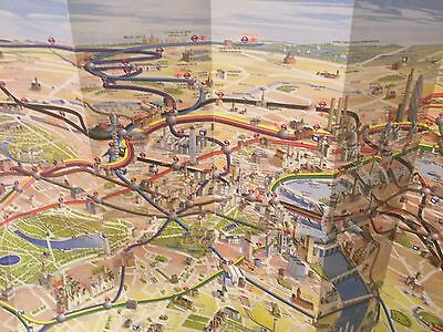 CENTRAL LONDON Tourist MaP RARE AND AMAIZING 3D images/foldaway map