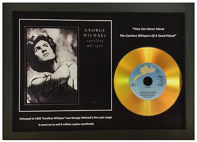 George Michael-'careless Whisper'- Signed Gold Presentation Disc