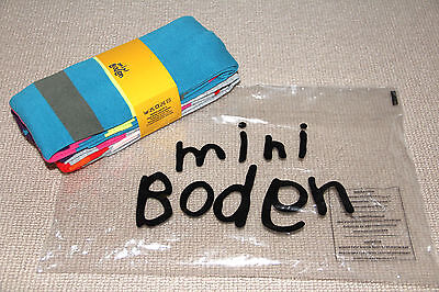*Brand New* MINI BODEN *2 PAIRS* FUNKY Knitted Tights 11-12 Y MULTI COLOURED