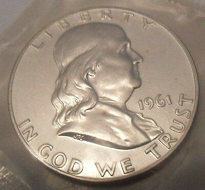 1961 Ben Franklin Half *uncirculated*  *90% Silver Gem Proof*  **free Shipping**