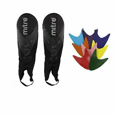 Mitre Stratum Mens Football Shin Guards + Ankle Pads - Shin Pads