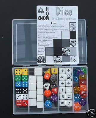 Educational Dice - Classroom Set - 58 Dice with Starter Book