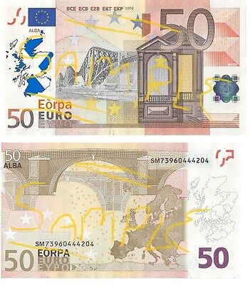 "Special Edition Novelty ""Scottish Euro"" design Bank Notes"