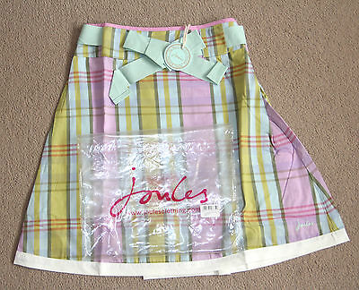 Brand New 7 Y JOULES GIRL'S SKIRT FELICITY FLARE PARASOL CHECK PASTEL COLOURS
