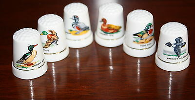 Set of 6 Duck Vintage Collectible Sewing Thimble
