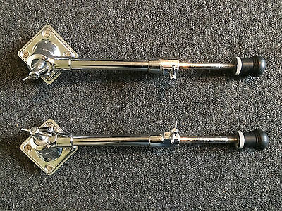Drum Hardware Parts   2 x Bass Drum Legs and Mounts - Excellent