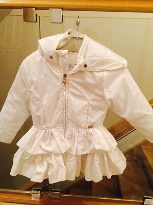 Gorgeous White Coat By A Dee Age 3 Years 98cms