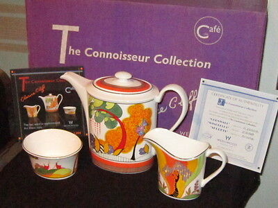 **MINT CONDITION** Wedgwood Clarice Cliff The CONNOISSEUR COLLECTION COFFEE SET