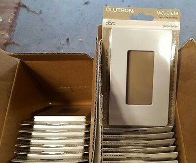 Lot of 19 New Lutron CW-1-WH 1 Gang Wallplate