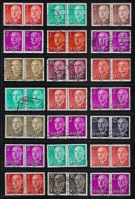 SPAIN - mixed collection, joined pairs No.1, General Franco