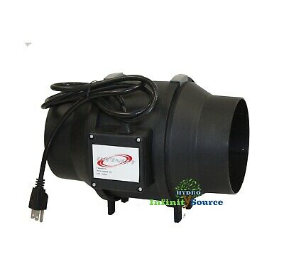 "6"" Ventilation Mixed Flow Inline Duct Fan 341CFM Hydroponic AirFlow Quiet Fan"