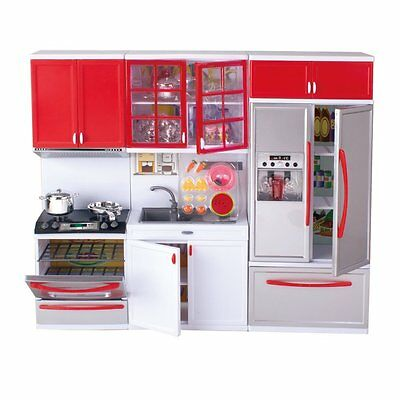 """Modern Kitchen Battery Operated Toy Kitchen Playset, Perfect for 11.5"""" Tall Doll"""