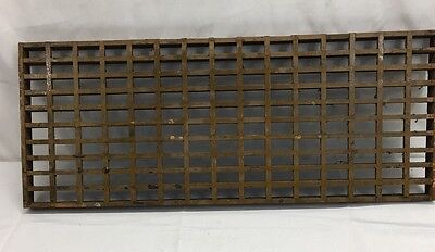 "Antique Cold Air Return Oak Wood Wooden Vent Grate 30"" x 12"" X 1 1/4"" Victorian"