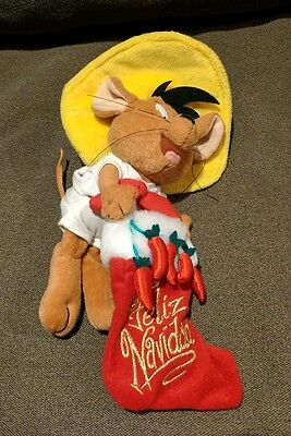 "11"" Warner Bros Speedy Gonzalez Feliz Navidad Plush Toy 2000 Christmas Holiday"