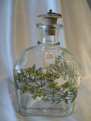Holme Gaard  Danish Decanter With Botanical Decoration As New