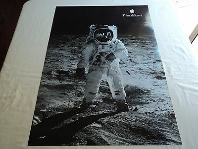 APPLE POSTER *THINK DIFFERENT * BUZZ ALDRIN * 30/20 inches Macintosh 1999