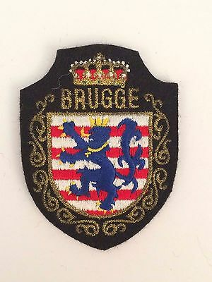 Brugge Sew On Souvenir Collectible Embroidered Crest Patch Badge
