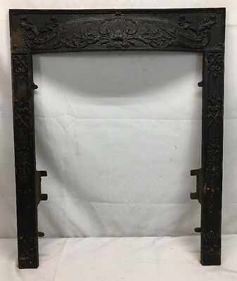 Antique Cast Iron Fireplace Mantel Surround Parts Victorian (NO Summer Cover )