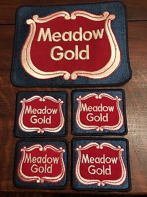 Vintage Meadow Gold Milk Ice Cream Dairy Jacket Advertising Patch Lot