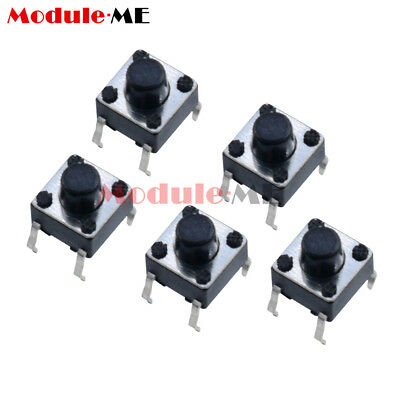 100/500/1000Pcs 6x6x5mm Micro Switch PCB Momentary Tactile Tact Switch Button UK