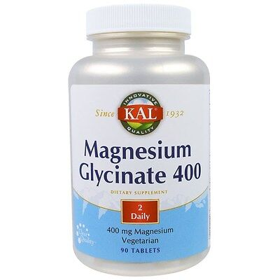 MAGNESIUM GLYCINATE x 90 TABLETS by KAL ENERGY MUSCLE SUPPORT ANTI STRESS