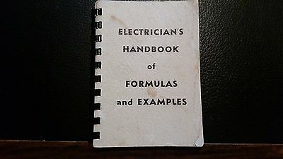 Electrician's Handbook Of Formulas And Examples 1972 Spiral