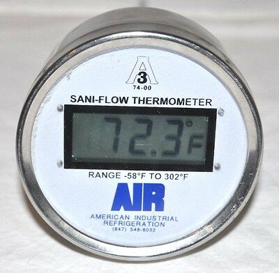 Sani-Flow Thermometer Chicago Stainless Equipment CSE -58 to 302F Digital 1/2NPT