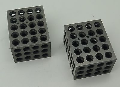 "Pair Precision 1/4""-20 Treaded Fixture Milling Machine Mounting Blocks"