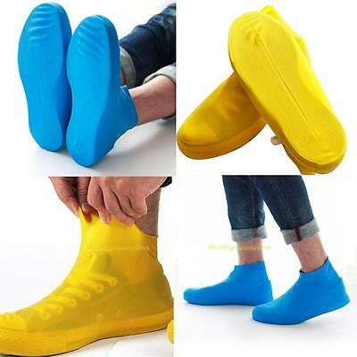 Waterproof Shoe Cover Reusable Anti-slip Rain Boot Motorcycle Bike Overshoe M/L