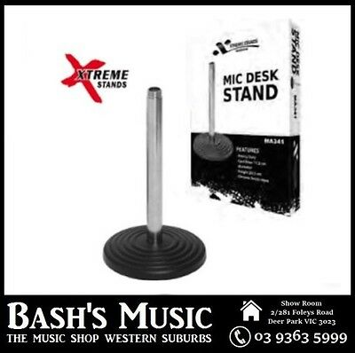 Xtreme MA341 Microphone Desk Stand 11.5cm Diameter Cast Base 20.5cm High Chrome