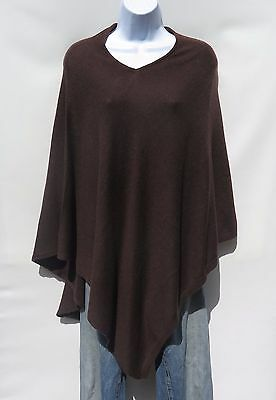 Kariannes Secret Ladies 100/% Pure Cashmere Cable Knit Poncho in Rich Chocolate Brown Handcrafted in Nepal