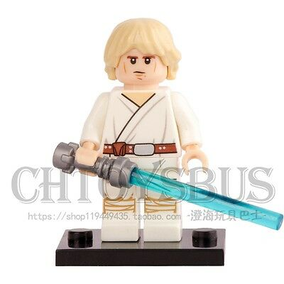 STAR WARS Jedi Luke Skywalker with Lightsaber Blocks Minifigures Xmas Toys Gifts