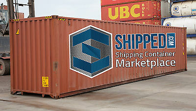 40ft HIGH CUBE WIND AND WATER TIGHT SHIPPING CONTAINER - CONSTRUCTION / STORAGE