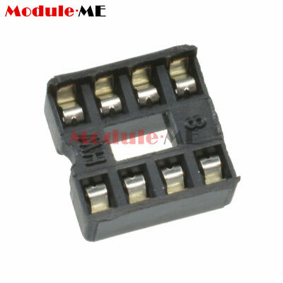 50/100PCS 8pin DIP IC Socket Adaptor Solder Type Socket Pitch Dual Wipe UK