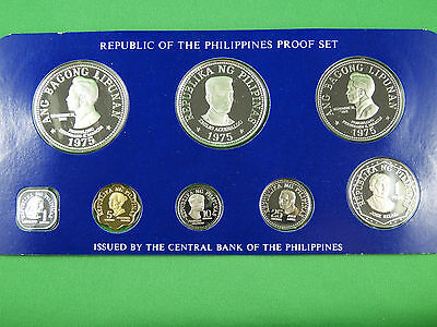 1975 Republic of the Philippines Proof Silver Coin Set **Franklin Mint**