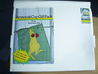 AMERICA'S CUP GIFT PACK frrom AUSTRALIA POST + AMERICA'S CUP PSE'S + POSTCARDS