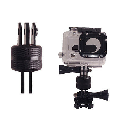 360 Rotating Swivel Arm Mount Adapter Pivot Arm For Gopro 1 2 3 4 5 Aluminum