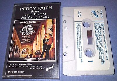 PERCY FAITH LATIN THEMES FOR YOUNG LOVERS PAPER LABELS cassette tape album T2826