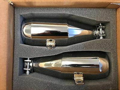 Trask Muffler Slip-on Exhaust for Indian Scout Chrome UK RRP £926