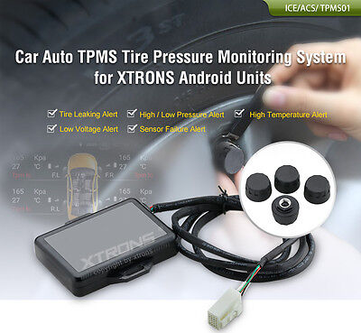 TPMS01 Wireless Car Tire Tyre Pressure Monitor System Receiver + 4 Sensor XTRONS