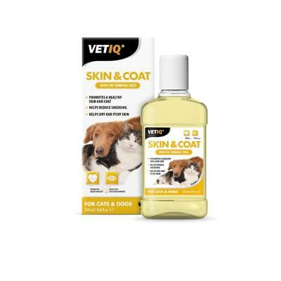 Mark & Chappell Vet IQ Dog Puppy Cat Kitten Skin Coat Edible Conditioner 250ml