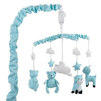 The Peanut Shell Woodland Musical Mobile (Teal)