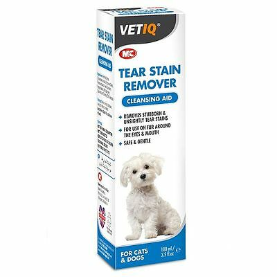 Mark & Chappell Vet IQ Dog Puppy Cat Tear Stain Remover Cleansing Aid 100ml