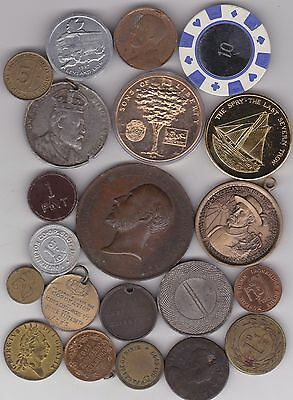 21 Various Old Commemorative Medals Average Very Fine