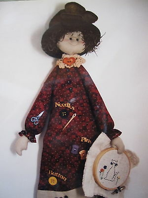 """"""" A STITCH in TIME """" ...Cloth Doll Pattern....by Whiskers & Wings"""