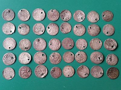 TOP COLLECTOR'S CHOICE! RARE 40 ORIGINAL OTTOMAN ISLAMIC silver Akche-Para COINS