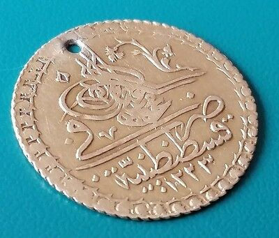 GOLD OTTOMAN Turkey AUTHENTIC COIN 2.32 grams Sultan Mahmud II AH1223- AD1808
