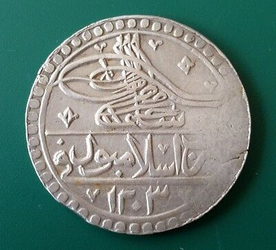 TOP PRICE and COLLECTOR'S CHOICE! Ottoman silver coin 100 Para Sultan Selim III