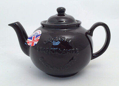 Staffordshire 4 cup Brown Betty Teapot - U.K. Made, Tea Pot (Embossed)